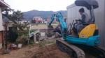 砕石の敷き詰め「タクボガレージ」8