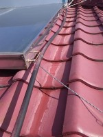 太陽熱温水器を屋根から降ろす「雨漏り」4