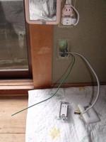 キッチンワゴンに電子レンジ「ミニキッチンを取付」59
