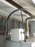 加圧ポンプに止水栓と袋ナット付きアダプター「Tさんの太陽熱温水器」10