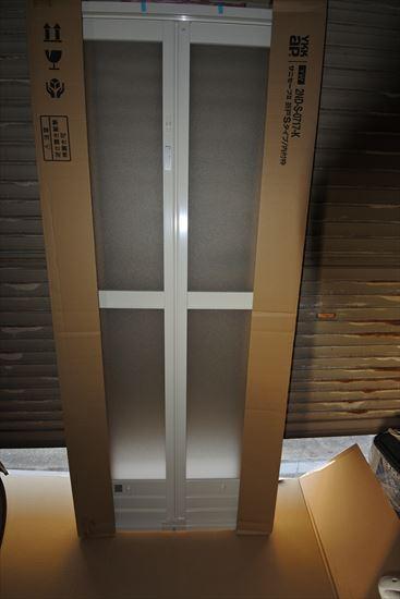DIYで浴室ドアのリフォーム3・・・ドア枠取付