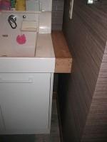 箱型の下地にキッチンパネル「端材の活用」Ⅱ5