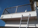 コンクリート垂れ壁の塗装はがし「外壁補修」9