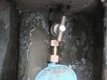 メーター止水栓の伸縮部を交換「水道メーターのパイロットが回る」2