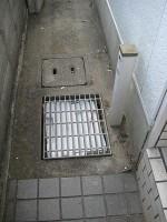 水栓柱とグレーチングを移動「駐車場に散水栓」7
