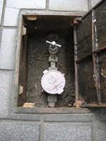 水道メーター止水栓の修理 1.副止水栓