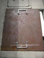 コの字ボルトで鉄蓋の取手作り「駐車場に散水栓」12