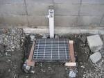 グレーチングの流し場を作ります。「駐車場に散水栓」22