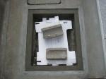 バルブボックスの鉄蓋を設置「駐車場に散水栓」31