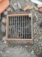 グレーチング流し場の型枠作り「駐車場に散水栓」24