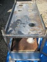ステンレス流し台を高圧洗浄機で洗う「駐車場に散水栓」36