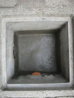 排水桝をモルタルで補修1日目「排水桝の掃除」2