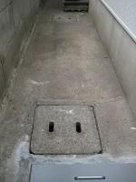 排水桝をモルタルで補修2日目「排水桝の掃除」3