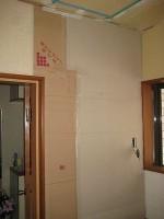 キッチンパネルの貼付・圧着「洗面所をリフォーム」Ⅱ64